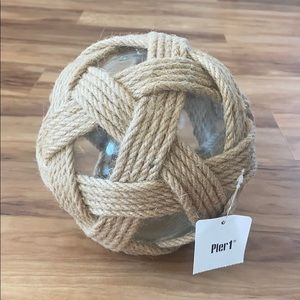 Pier 1 Medium Jute and Glass Decorative Sphere